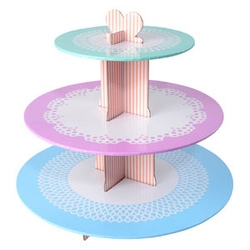 Alzata a 3 livelli per muffin e cupcakes decoro greche