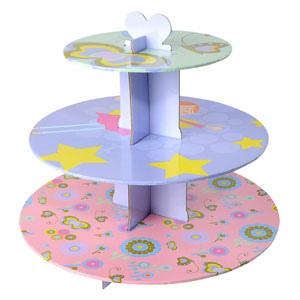 Alzata a 3 livelli per muffin e cupcakes decoro festa
