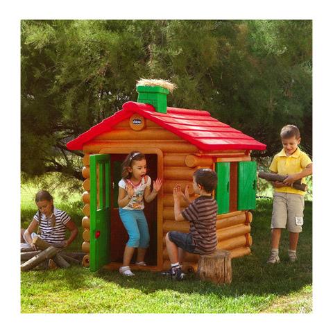 Casetta per bambini da giardino Chicco Simil Chalet legno Chicco 30101 - Casetta Chicco