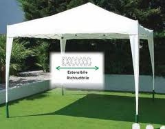 Gazebo Richiudibile in Metallo con telo Beige mod. ALBUFEIRA 3X3 Mt Papillon