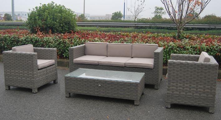 Vetro per salotto 3 posti da giardino in polyrattan color for Salotto da giardino amazon