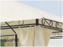 GAZEBO in METALLO Mod. SINES PAPILLON 3X4 mt Tende laterali Struttura in Acciaio 94972
