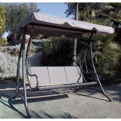 Dondolo da giardino mod sapri in metallo alluminio 3 for Telo copri dondolo 3 posti