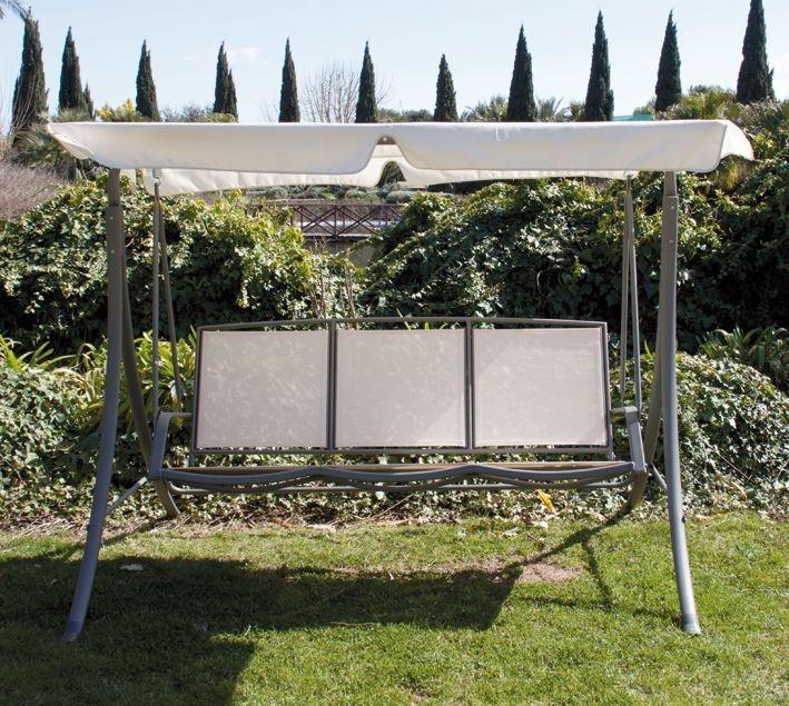 Dondolo da giardino in metallo 3 posti mod tropea 200x120x160h cm papillon - Amazon dondolo da giardino ...