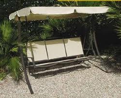 Dondolo da giardino in metallo 3 posti mod tropea for Telo copri dondolo 3 posti