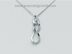CLD2099 Collier in oro bianco e diamanti Miluna