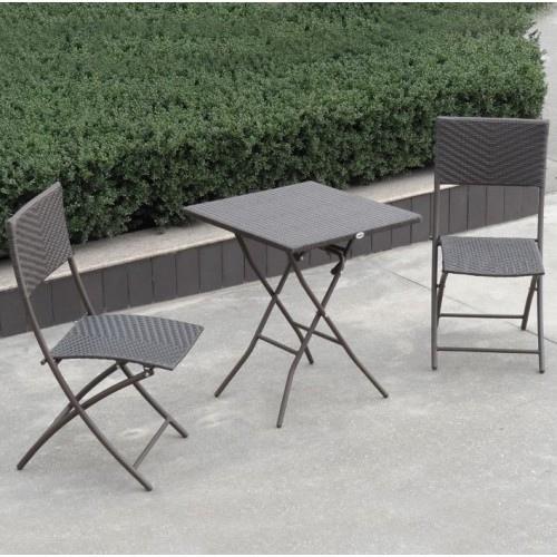 Tavolo quadrato pieghevole da giardino mod erice in polyrattan marrone papillon - Tavolo pieghevole da giardino ...