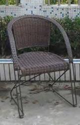 Sedia mod. Bristò in Polyrattan Marrone 94436 impilabile