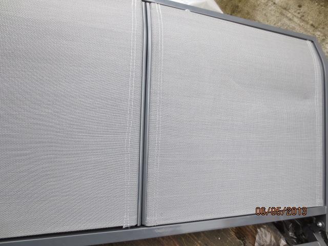 Dondolo Da Giardino mod. SAPRI In Metallo/Alluminio 3 Posti Tessuto Grigio