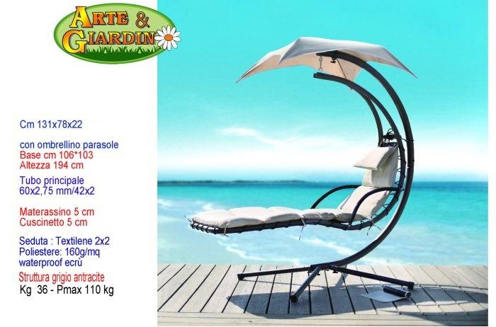 Lettino dream chair sedia dondolo da esterno con - Dondolo per esterno ...