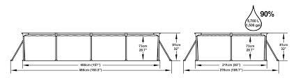Piscina rettangolare BESTWAY 56082 Steel Pro Frame Splash Frame cm 400x211x81h con pompa