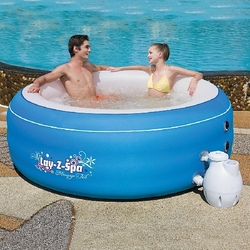 BESTWAY-Piscina vasca idromassaggio Lay-Z Massage Tub d.206xh71cm 4 adulti 54100