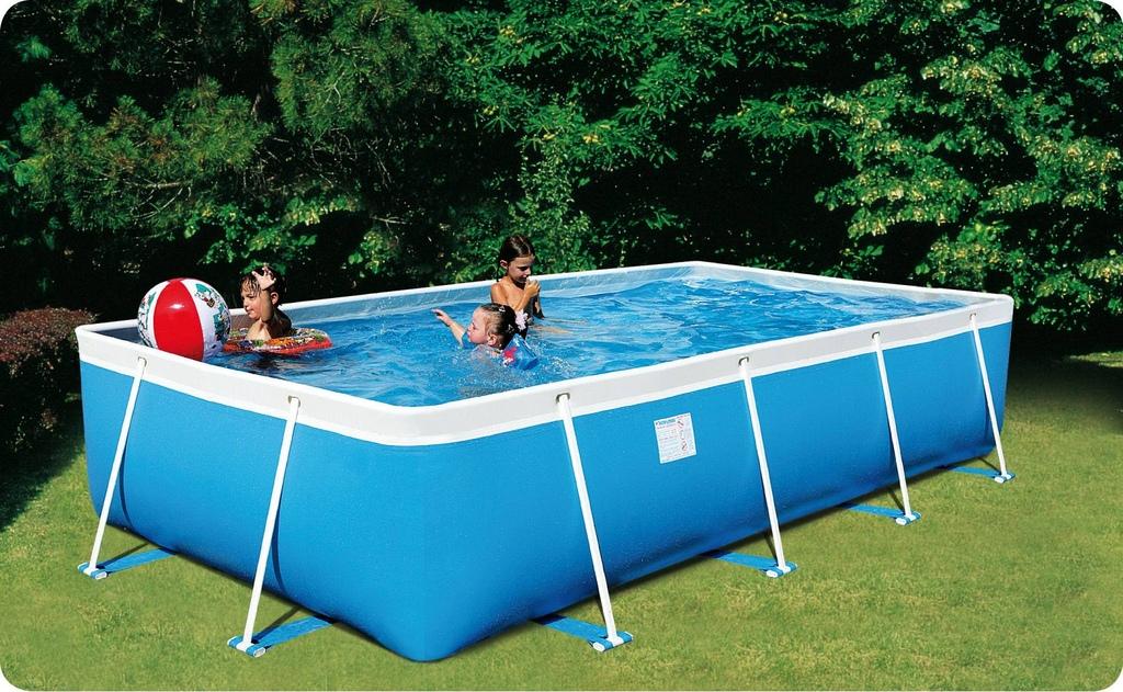 piscina fuori terra da esterno rettangolare new plast rio