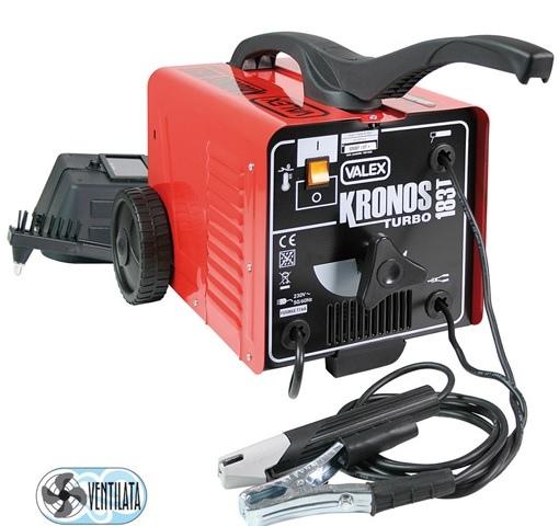 Saldatrice ad elettrodo ventilata e carrellata kronos 183t - Valex 1851002