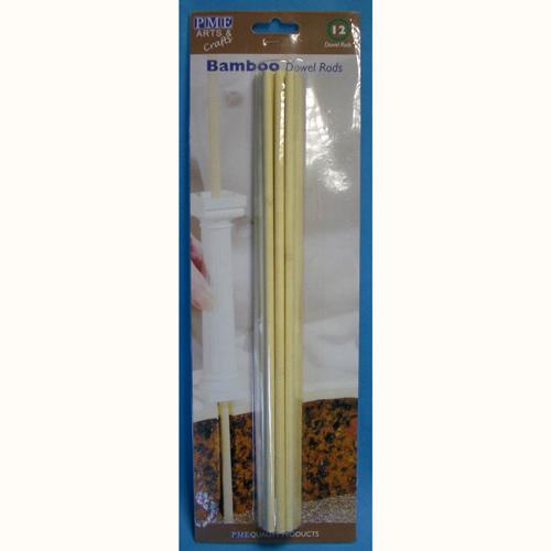set 12 pioli in legno di bamboo per torte multipiano cm 30 PME