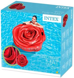 Intex Materassino Rosa Rossa 137x132cm - Intex - 58783