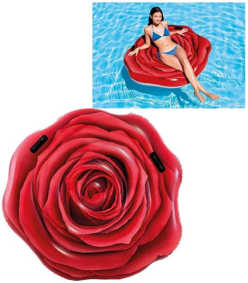 Intex Materassino Rosa Rossa 137x132cm - Intex - 58783