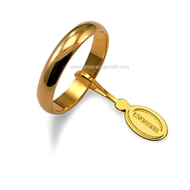 Fede Nuziale UnoAerre Oro Giallo 18 kt 4 gr