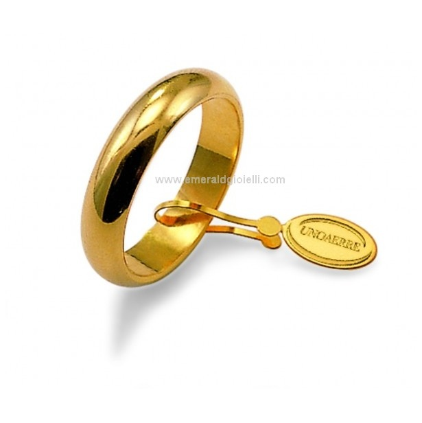 Fede Nuziale UnoAerre Oro Giallo 18 kt 7 gr