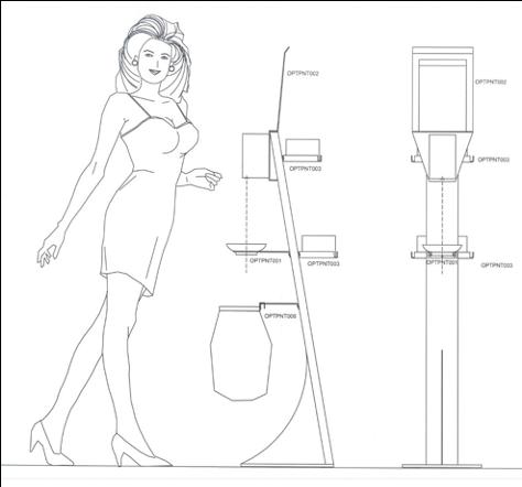 Colonnina in acciaio con dispenser automatico per gel igienizzante - Vari colori