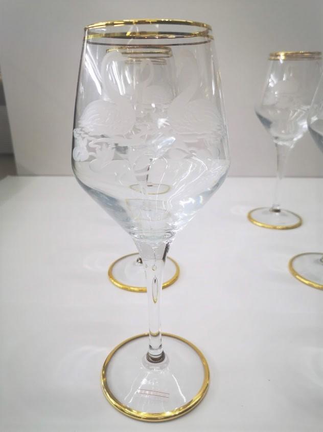 Bicchieri in cristallo intarsiati
