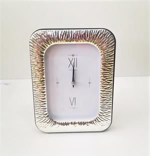 Sveglia con cornice in argento