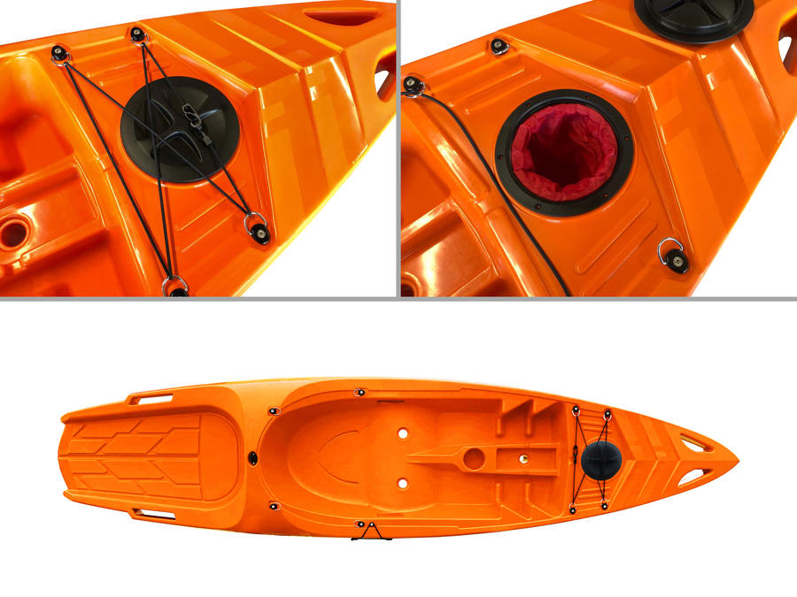 BIG MAMA KAYAK CANOA mod. SKIPPY EXPEDITION DA 305 KAYAK CON 1 POSTO ADULTO + 1 POSTO BAMBINO + 1 PAGAIA