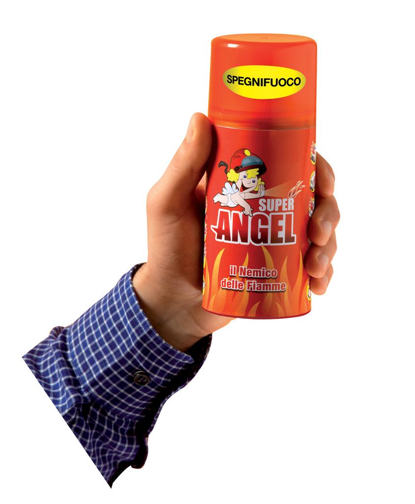Spegnifuoco super angel mini estintore portatile bomboletta 250 gr