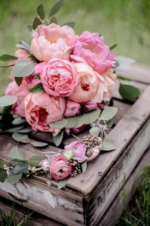 Bouquet romantico rose e peonie