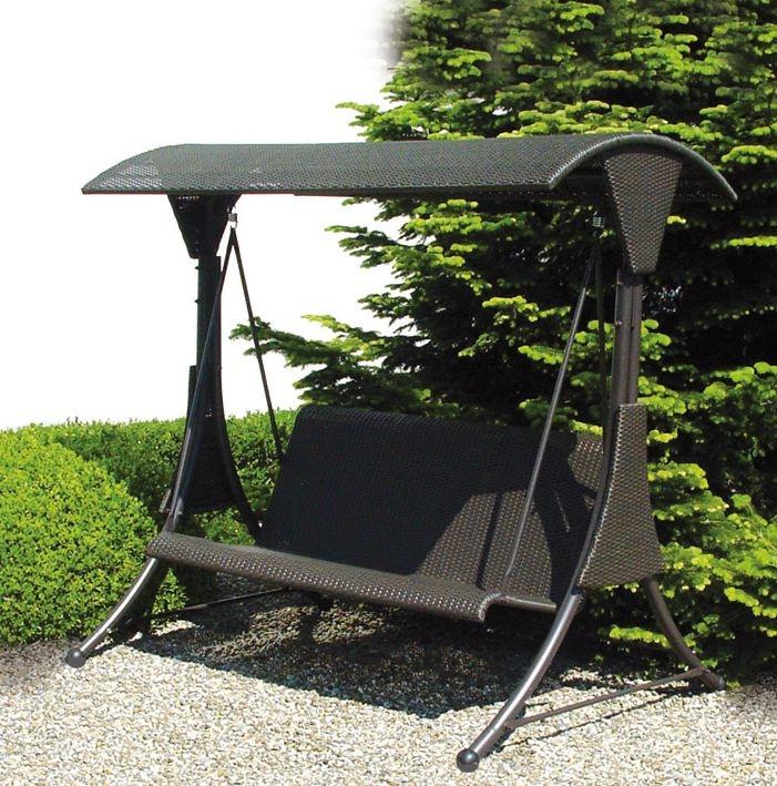 Dondolo da giardino mod circeo in polyrattan 3 posti for Telo copri dondolo 3 posti