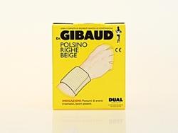 GIBAUD Polsino Righe Beige