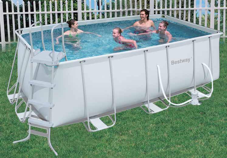 Piscina fuori terra da esterno rettangolare bestway frame - Del taglia piscine opinioni ...