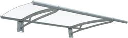 Pensiline con tettoia in policarbonato e struttura in alluminio 190 x 95