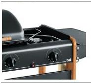 Barbecue BST BERNA ART 296 Ghisa e pietra lavica Multigas BST A.296 ROMEO 396EU