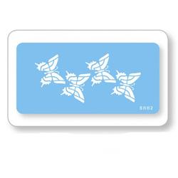 Stencil sequenza farfalle
