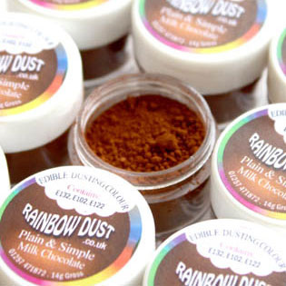 colorante in polvere rainbow dust color cioccolato al latte