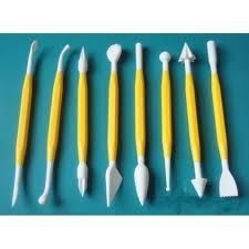 set 8 strumenti per modellare gialli (tools)
