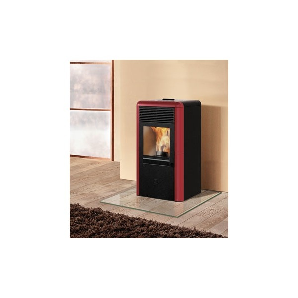 Stufa a pellet aria Italiana Camini POINT 8 kw bordeaux