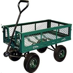Carretto giardino misura 97X51X56 con porte laterali ribaltabili carrello giardino manuale con ruote papillon 92551