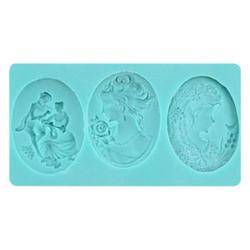 Stampo silicone per 3 camei