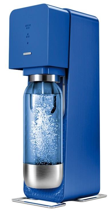 SODASTREAM Gasatore Source Metal Blue+ 1 Bottiglia + 1 Cilindro + 9 Monodose