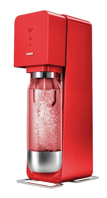 SODASTREAM Gasatore Source Metal Red + 1 Bottiglia + 1 Cilindro + 9 Monodose