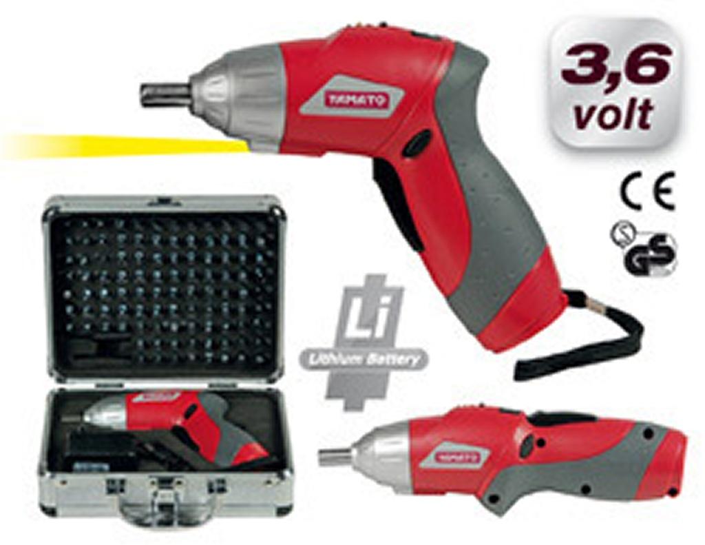 Avvitatore a batteria litio 3 6v yamato mod cs36n con for Avvitatore a batteria quale scegliere