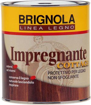 Cottage impregnante per legno Brignola Protettivo colorato per legno lt 0,750