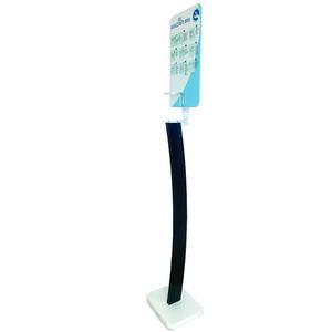 Totem porta dispenser per gel igienizzante mani con poster informativo
