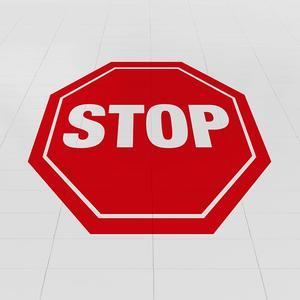 Adesivo calpestabile STOP