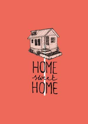 GIULIA BELCASTRO in arte MATERIAE, STAMPA FORMATO A4 firmata: HOME SWEET HOME
