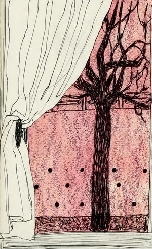 GIULIA BELCASTRO in arte MATERIAE, STAMPA FORMATO A4 firmata: OUTSIDE THE WINDOW