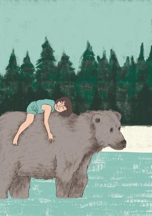 GIULIA BELCASTRO in arte MATERIAE, STAMPA FORMATO A4 firmata: TEDDY BEAR