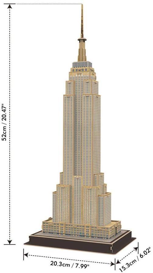 Puzzle 3D Empire State Building - Cubic Fun 771 C246h - 8+ anni